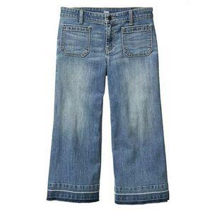 GAP Mid Rise Wide Leg Denim Culottes
